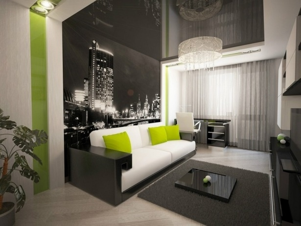 wohnzimmer tapezieren beispiele. Black Bedroom Furniture Sets. Home Design Ideas