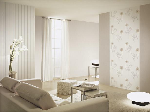 Wohnzimmer Tapezieren Beispiele