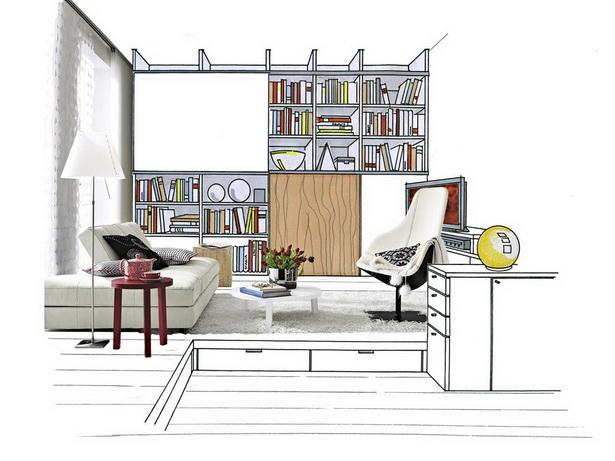 Einrichtungsideen kleines wohnzimmer