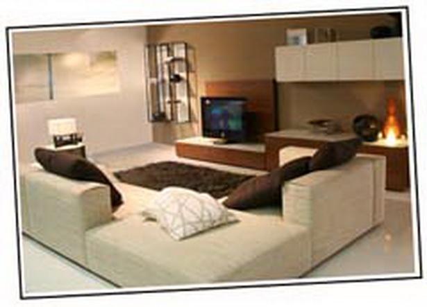 Wohnzimmer braun beige