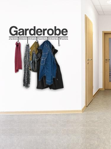 Garderobe für viele jacken