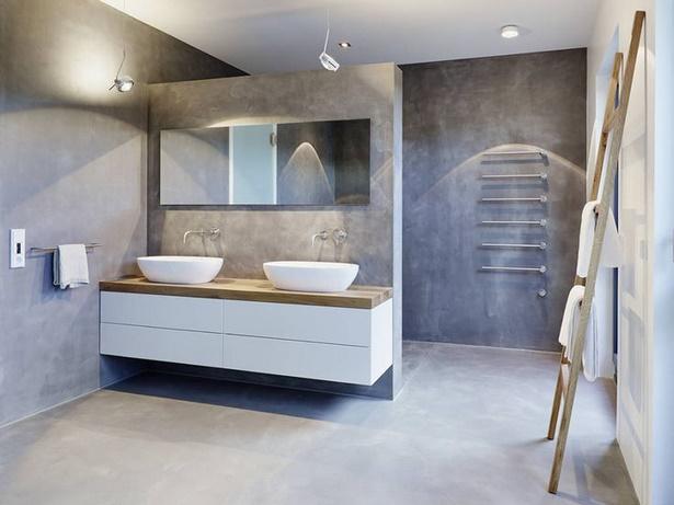 Badgestaltung grau weiß