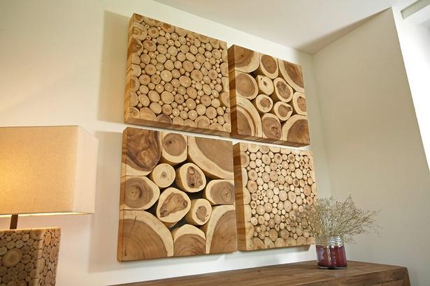 Holz deko wohnzimmer