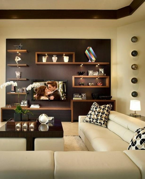 Wandregal wohnzimmer deko
