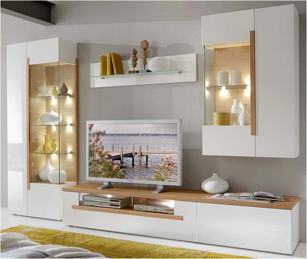 Überraschend Echtholz Wohnwand Fotos Von Wohndesign Dekoration