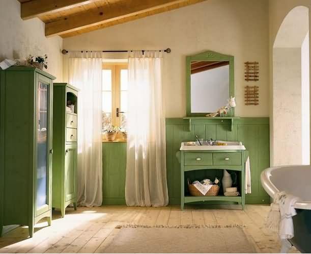 Badezimmermöbel holz landhaus