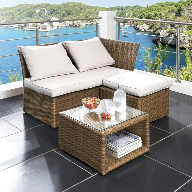 Balkonmöbel Polyrattan Platzsparend 2021