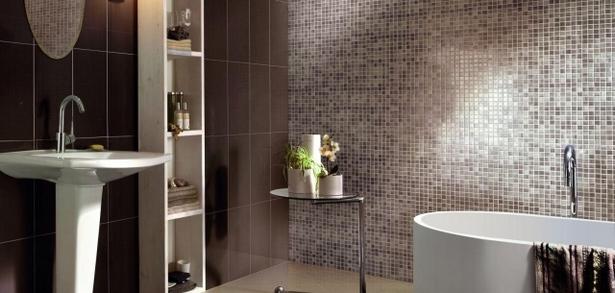 Wand im bad gestalten