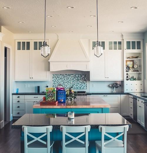 Küche Hellblau Streichen
