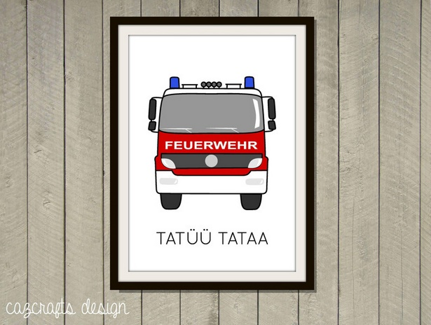 Feuerwehr kinderzimmer ideen