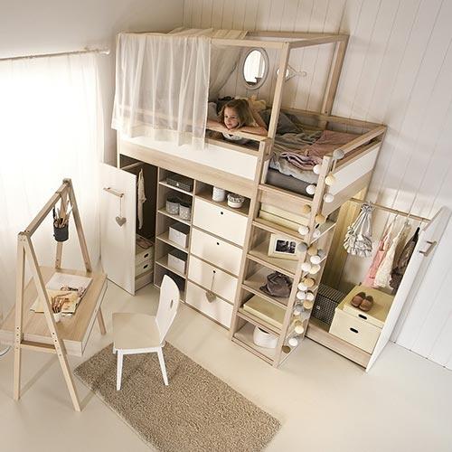 Kinderzimmer komplett mit etagenbett