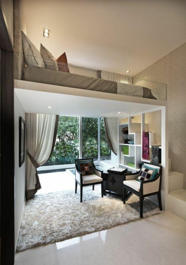Wohn und schlafraum in einem einrichtungsideen