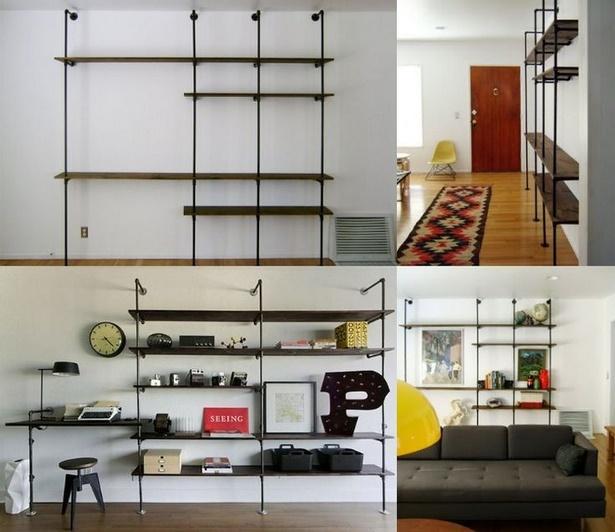 Wohnzimmerwand Mit Brauner Farbe Gestalten: Wohnzimmerwand Selbst Gestalten