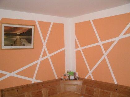 Muster auf die wand malen